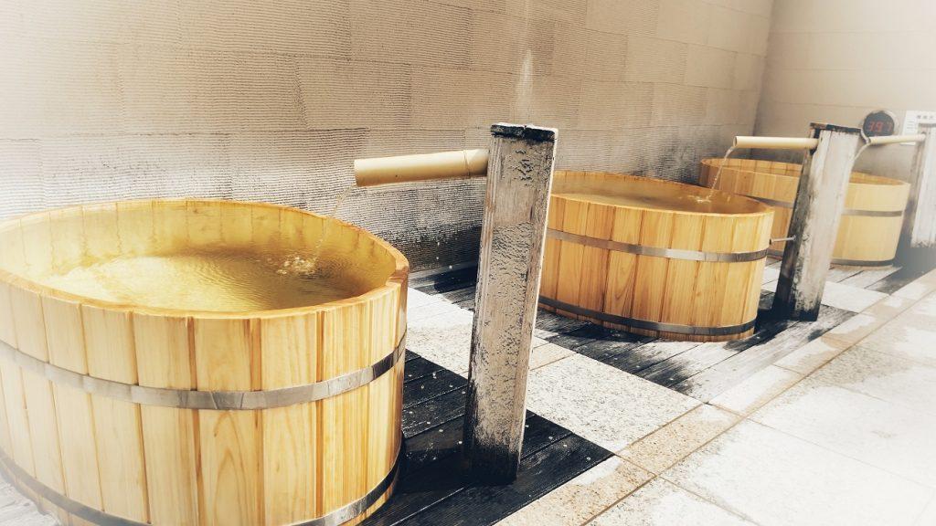 ヒノキ樽風呂リニューアル2021‐1